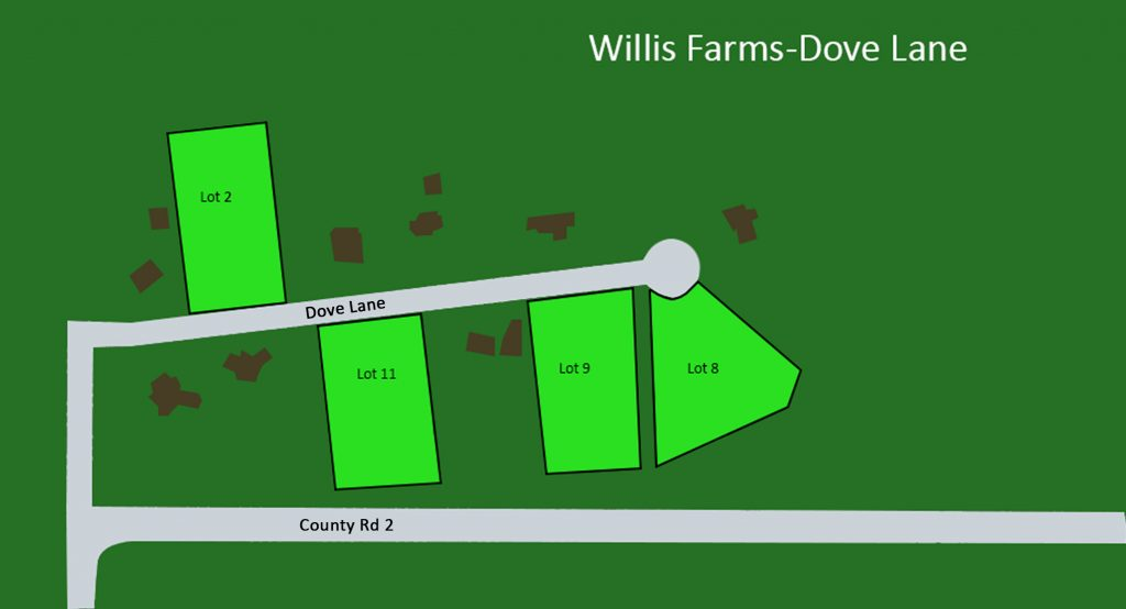 Willis Farms subdivision plot map