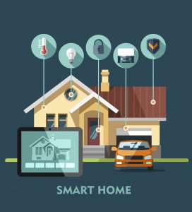 Home with connected technology